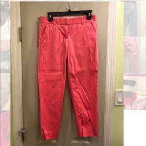 JCREW City Fit Bright Pink Cropped Ankle Pants